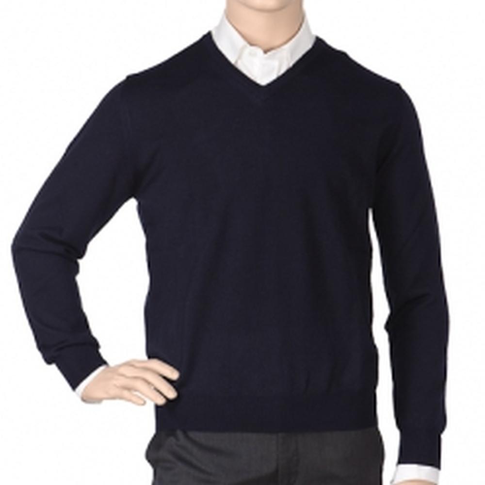 Др.Коффер 2010 L8056 синий меринос пуловер (48 S) фото