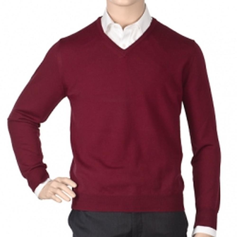 Др.Коффер 2010 L8024 бордо меринос пуловер (46 XS) фото