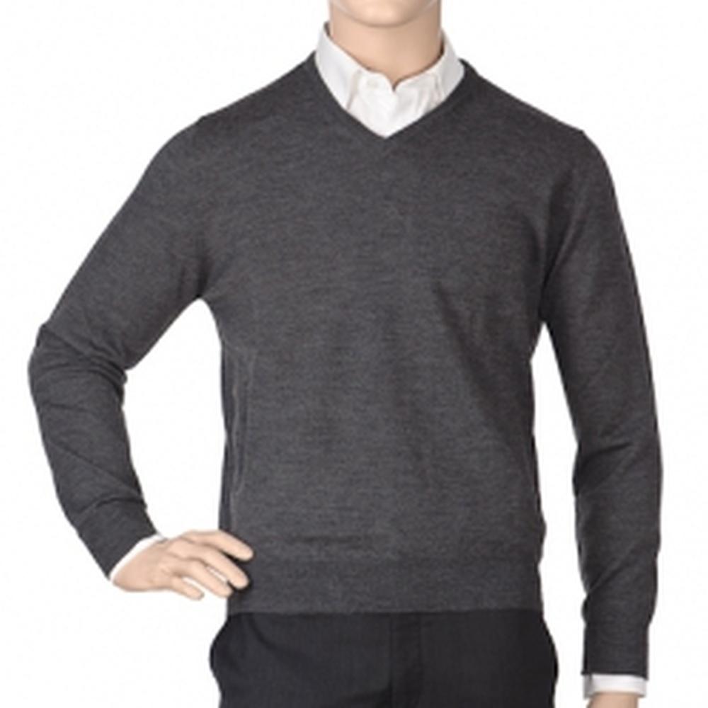 Др.Коффер 2010 E3130 серый меринос пуловер (46 XS) фото