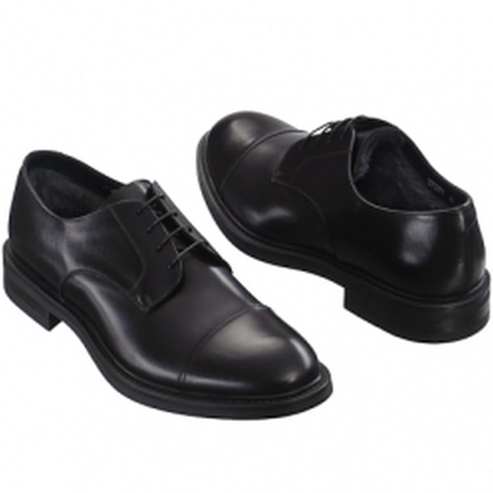 Др.Коффер 370377 чёрные ботинки мех мужские (42) фото