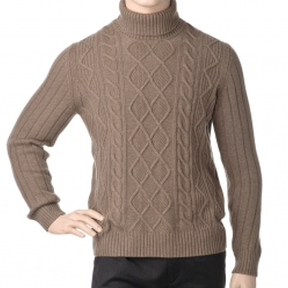 Др.Коффер 41711 коричневый пуловер с воротником (48 S) фото